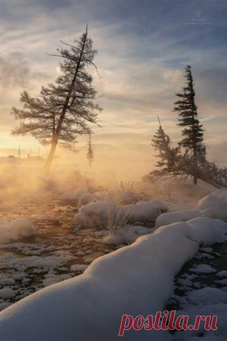 Морозное утро в поселке Курай, Республика Алтай. Снимал Дмитрий Купрацевич: nat-geo.ru/community/user/114912