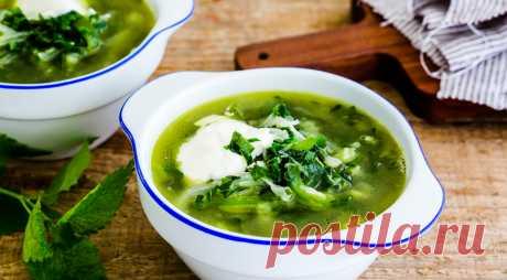 Зеленый борщ – вкусно и сытно