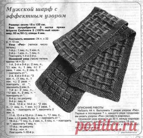 Шарф спицами: схема с описанием как связать мужской шарф, женский ажурный, хомут