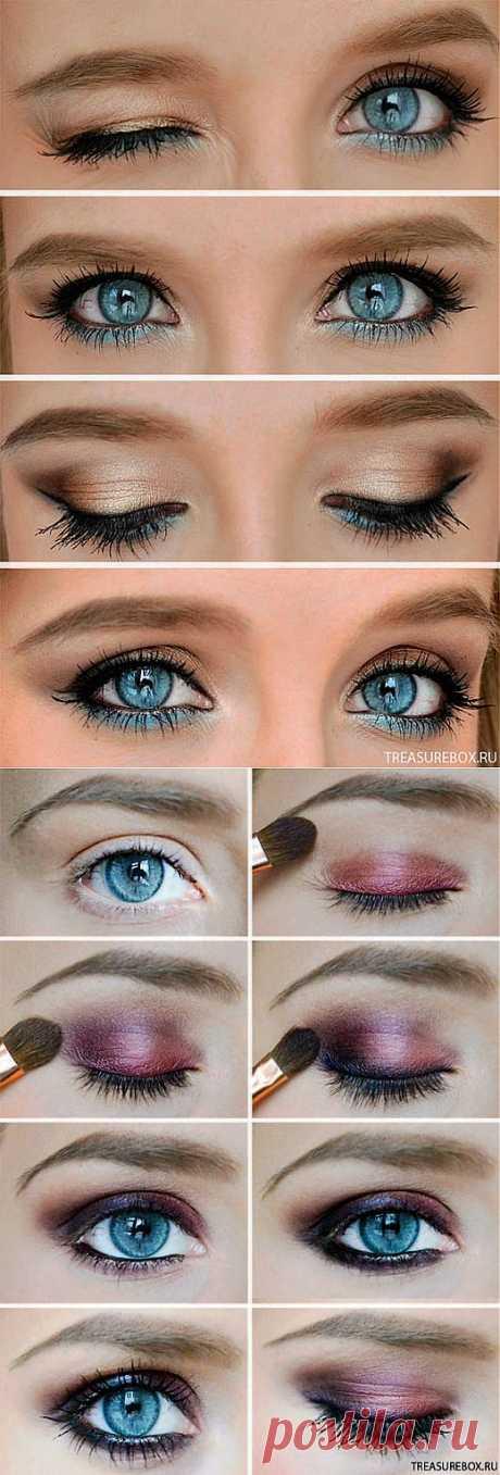 нежный макияж глаз | Рукоделие | Treasurebox - пошаговые мастер-классы