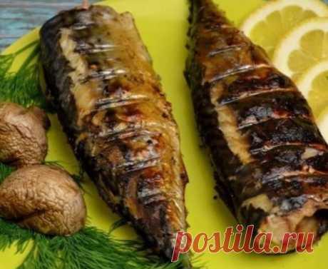 Рецепт сочного шашлыка из скумбрии в необычном маринаде
