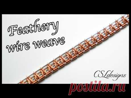 Feathery wire weave ⎮ Wire weaving series