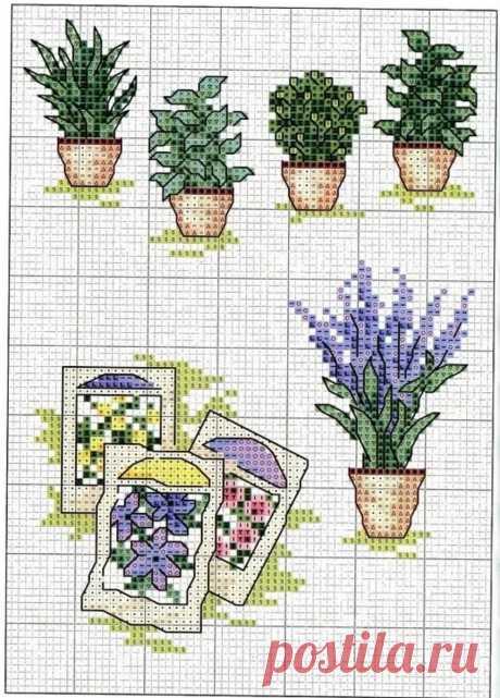 EPattern - блог о вышивке крестом. Подборка простых и маленьких схем вышивки крестом с цветами (culture.hobby.epattern) : Рассылка : Subscribe.Ru