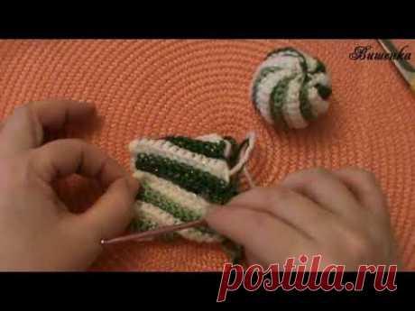 Вязание крючком мягкой игрушки МЯЧ - YouTube