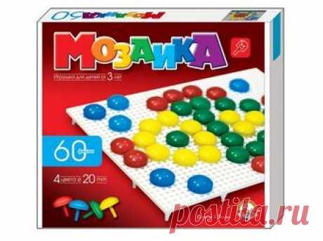Пластмассовая мозаика для детей, 60 элементов Мозаика пластмассовая:   Тип мозаики - круглая 20 мм на ножке    Количество мозаик - 60 шт   ...