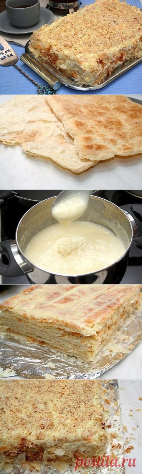 Как приготовить торт наполеон  - рецепт, ингредиенты и фотографии