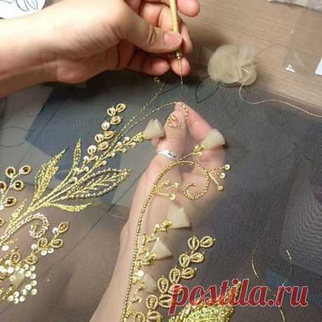 Люневильская вышивка – основы техники для начинающих