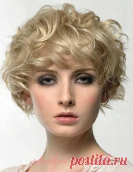 Стрижка на кудрявые волосы средней длины   Стрижки и Прически