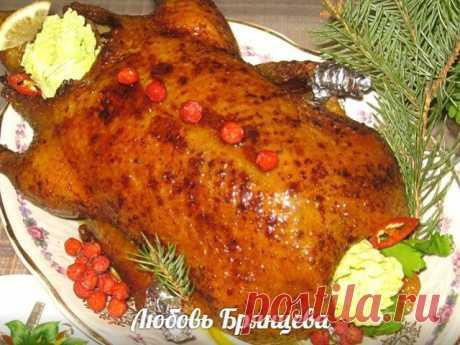 Рождественская утка с яблоками и мандаринами Рецепт на миллион!