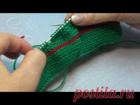 Вязание спицами пинетки машинки