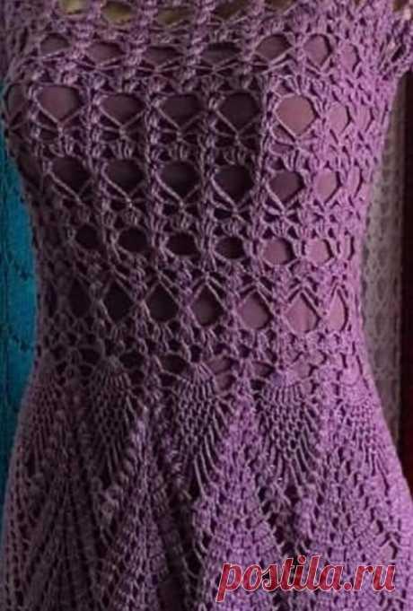 Подборка узоров для нежного платья крючком из категории Интересные идеи – Вязаные идеи, идеи для вязания