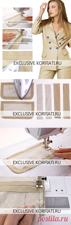 Технология обработки прорезного кармана от Анастасии Корфиати