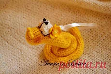 Вязаная крючком змея - Ярмарка Мастеров - ручная работа, handmade
