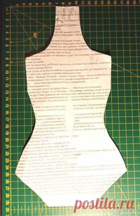 МК туловища текстильной девушки | Разнообразные игрушки ручной работы