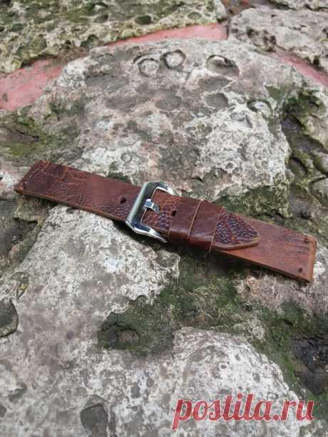 Quality Crocodile watch strap vintage style – GORIANI