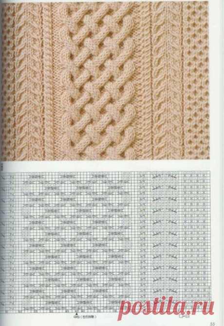 Узор Араны спицами: 20 вариантов с фото и схемами