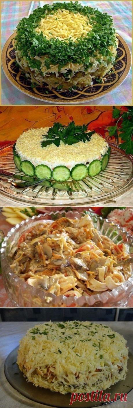 10 рецептов салатов с грибами