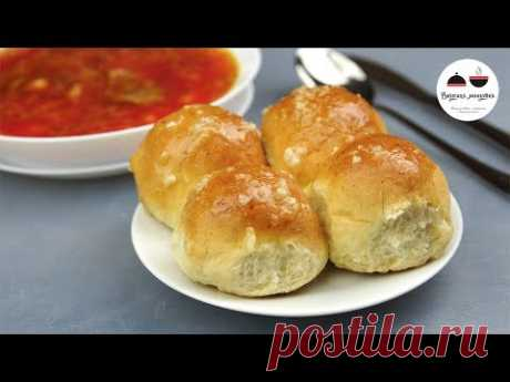 PAMPUSHKAS TO BORSCH + Chesnochnyi ̆ Sauce This Fastest DOUGH which I know!