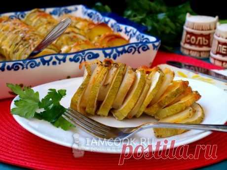 Кабачки с картошкой в духовке — рецепт с фото