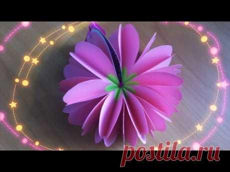 Как сделать объемный цветок схема 778