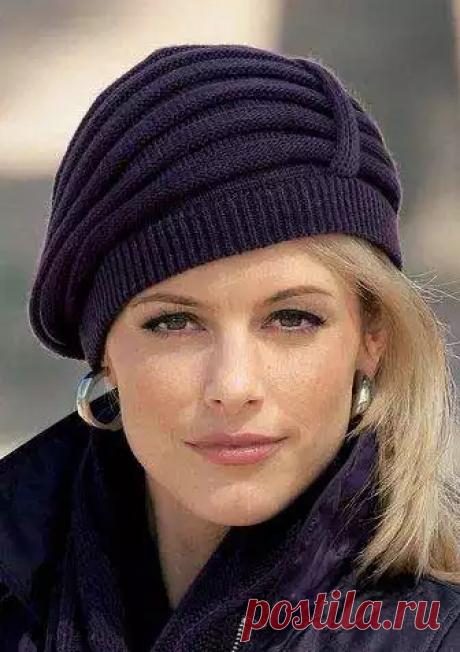Вяжем элегантную женскую шапочку, спицами | шьем, вяжем и готовим | Яндекс Дзен