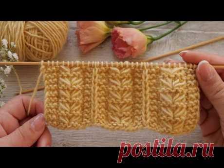 Микc узора «Поросль»  спицами 🌱 Mix of the pattern «Growth» knitting pattern 🌿
