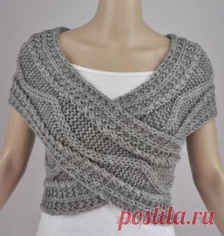 Универсальный шарф спицами