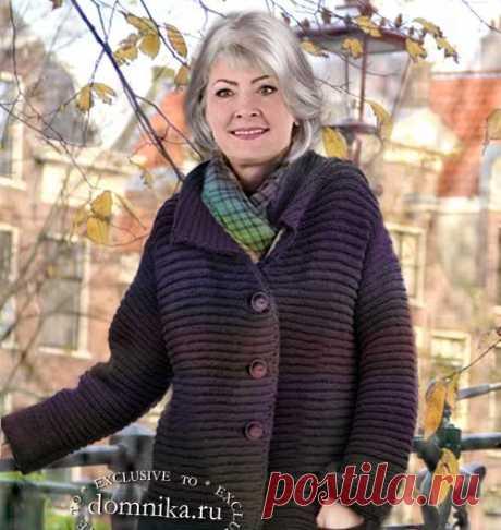 Вяжем пальто спицами для женщин 50-60 лет на фигуру до 56 размера