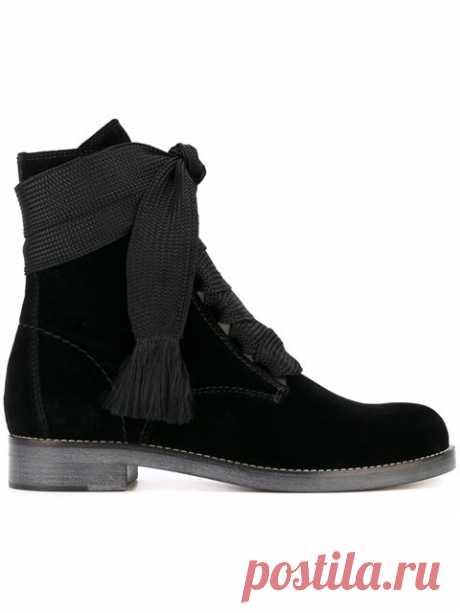 Chloé Velvet 'Harper' Boots - Farfetch Shop Chloé velvet 'Harper' boots.