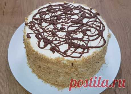Торт сметанник без выпечки