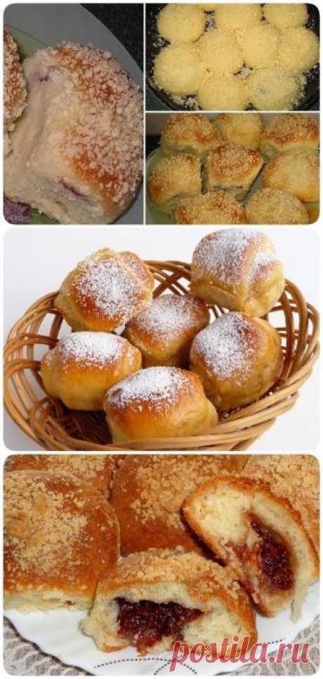 Восхитительные булочки с вкусной начинкой. Готовятся легко и просто! - interesno.win