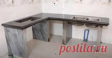 (6) Как своими руками сделать кухонный стол со столешницей из керамогранита - Полезные советы - медиаплатформа МирТесен