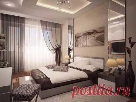 Кофейный дизайн спальни