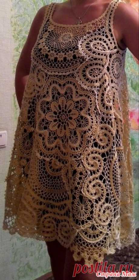 Dress in style bokho based on bryuggsky lace - Knitting - the Country of Mothers