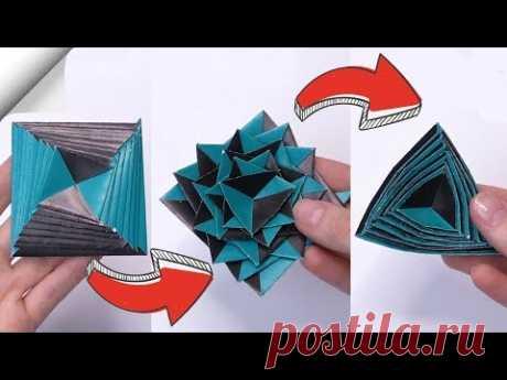 Бумажная игрушка-антистресс трансформер | DIY ремесел легко