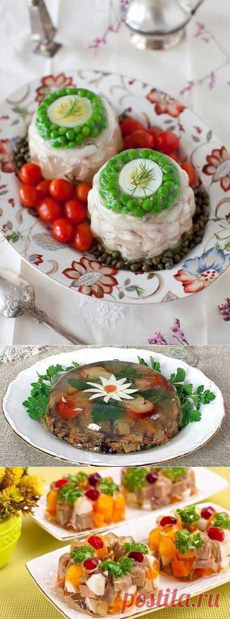Великолепная подборка заливных блюд для новогоднего стола !.