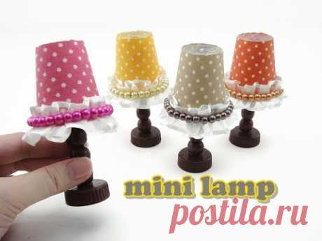 DIY Doll Accessories Mini Lamp - Easy Please support us by clicking like & subscribe to our channel ! We are making videos on DIY and miniatures for Barbie, ...