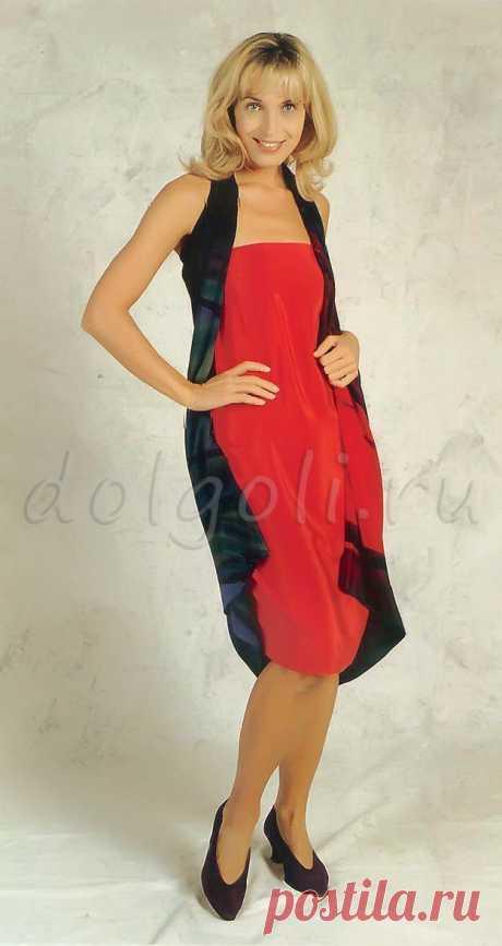 Платье без выкройки своими руками из двух больших платков