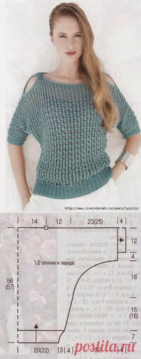 Пуловер-сетка
