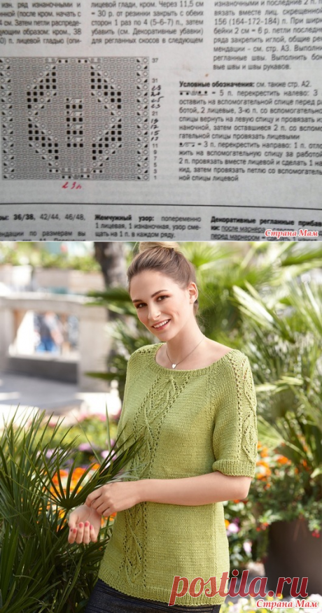Women's sweater from a yarn a children's whim - Knitting - the Country of Mothers