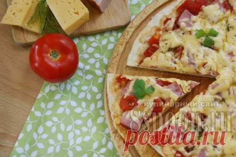Пицца в домашних условиях: рецепт с фото в духовке   8 Ложек