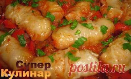 Пирожки-рулетики на подушке из овощей и слив - без жарки - МирТесен