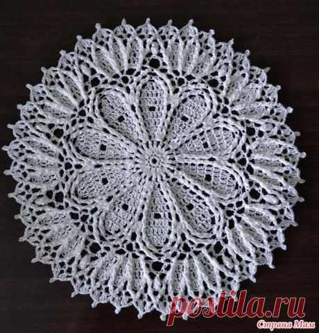 Две круглые салфетки - Вязание - Страна Мам
