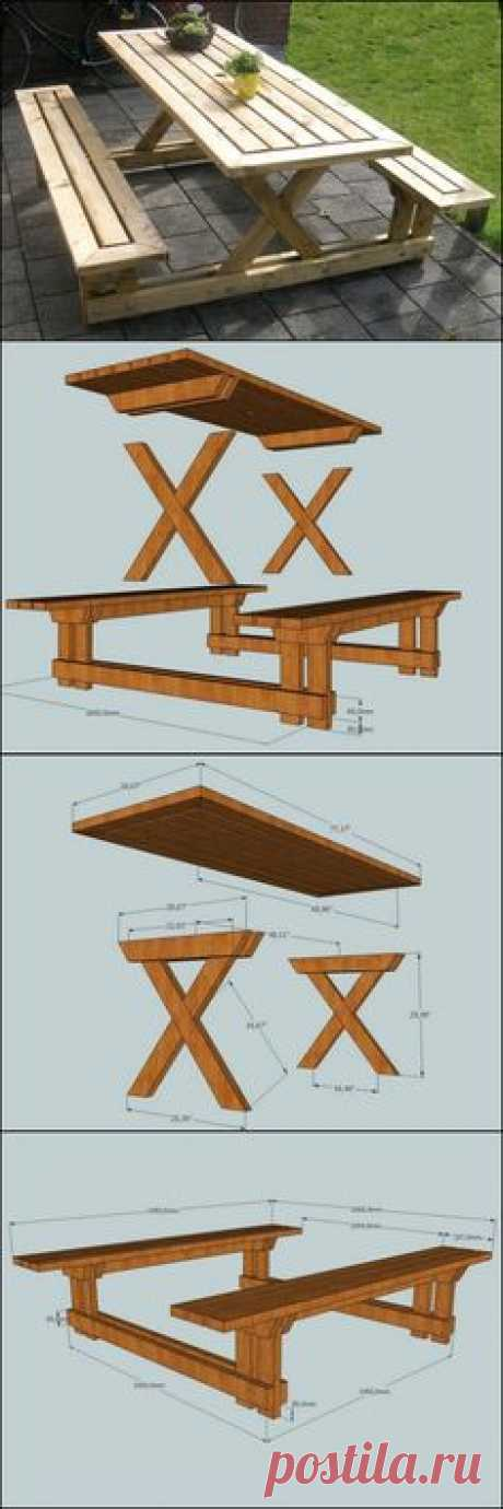 Learn How To Build Your Own Backyard Picnic Table