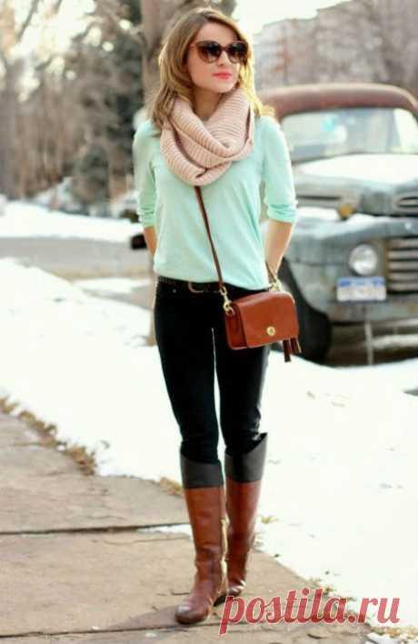 Как правильно носить шарф-снуд: фото и модные идеи. Женский интернет-журнал Delafe.ru
