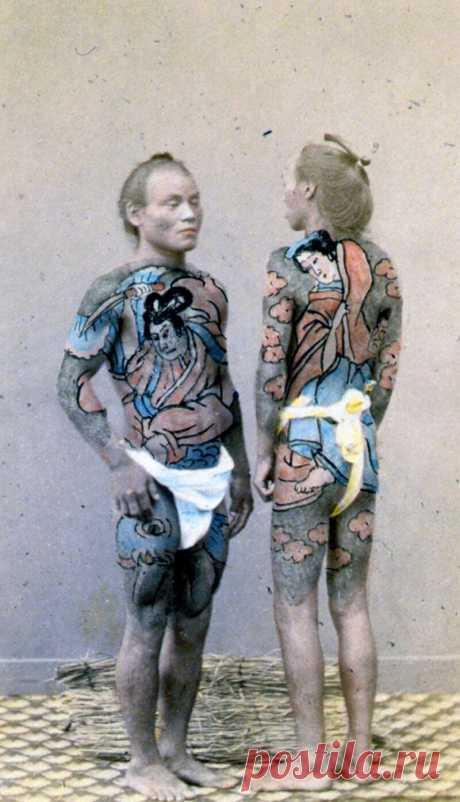 Искусство татуировки в Японии: непростая история и редкие фото