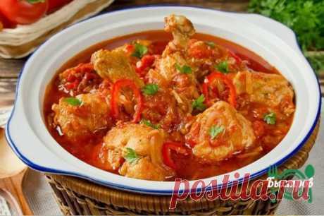 Остренькое блюдо на обед: чахохбили из курицы Ингредиенты: курица - 1-1,2 кг