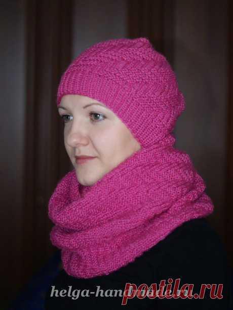 Вязаная шапка спицами своими руками, мастер-класс | helga-handmade.ru