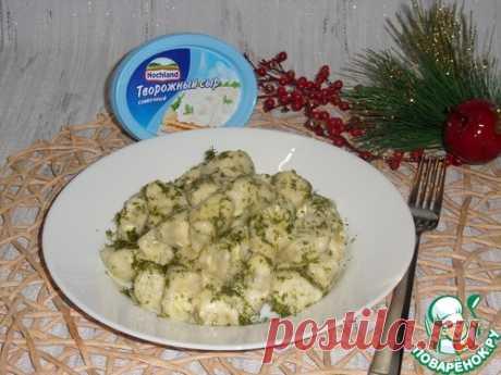 """Вареники с сыром и зеленью """"Ленивые"""" – кулинарный рецепт"""