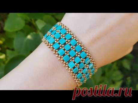 Браслет из бисера/Браслет из тилы/Как сделать браслет/Бисероплетение/Bracelet/Beaded bracelet